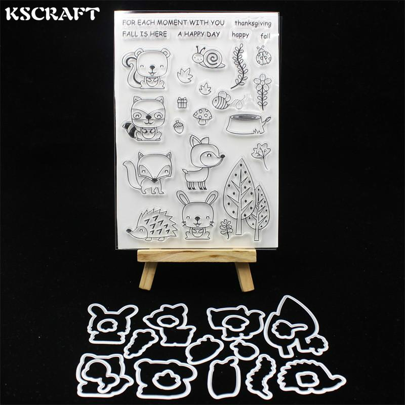 KSCRAFT Fall Friends Metal Cutting Dies Stamp for DIY Scrapbooking/photo album Decorative Embossing DIY Paper Cards