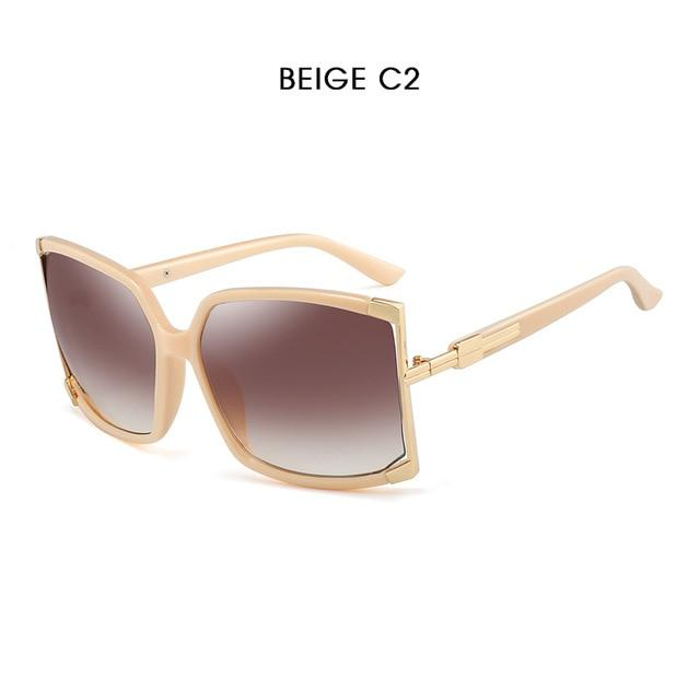 Hdcrafter Sunglasses Women Oversized Square High Quality 0000