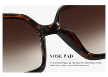 Load image into Gallery viewer, Hdcrafter Sunglasses Women Oversized Square High Quality 0000