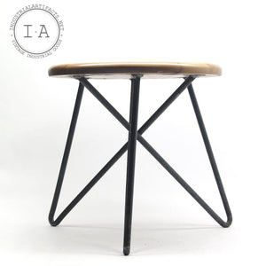 Handcrafted Industrial Ash Wood Machinist Stool