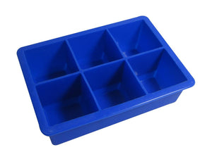 KitchenCraft Jumbo 6 Hole Blue Silicone Ice Cube Mold