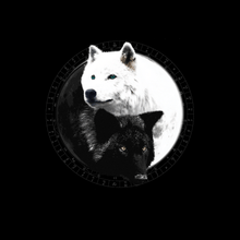 Load image into Gallery viewer, Yin Yang Wolf Inspired by Witchcraft & Wicca - Mens - V-Neck - Small to 3XL