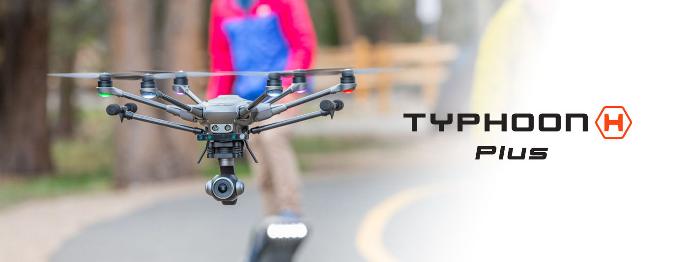 Yuneec Typhoon H+ With Intel Real Sense Hexacopter banner