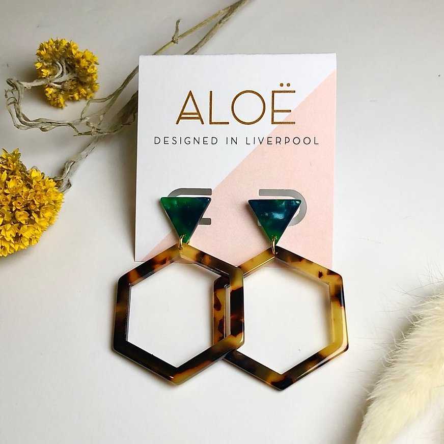 aloe tortoiseshell earrings