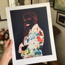 Load image into Gallery viewer, ALEXANDRIA OCASIO-CORTEZ PRINT - NAVY BLUE