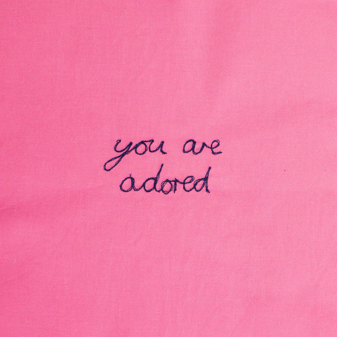 'YOU ARE ADORED' ORIGINAL TEXTILE ARTWORK