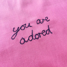 Load image into Gallery viewer, 'YOU ARE ADORED' ORIGINAL TEXTILE ARTWORK