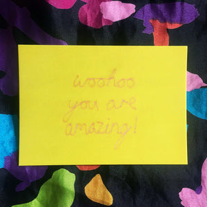 'WOOHOO YOU ARE AMAZING!' A6 POSTCARD