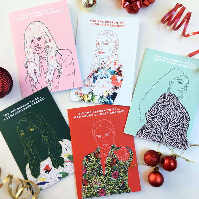 MODERN MUSE CHRISTMAS CARD 5 PACK