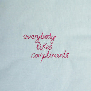 'EVERYBODY LIKES COMPLIMENTS' ORIGINAL TEXTILE ARTWORK