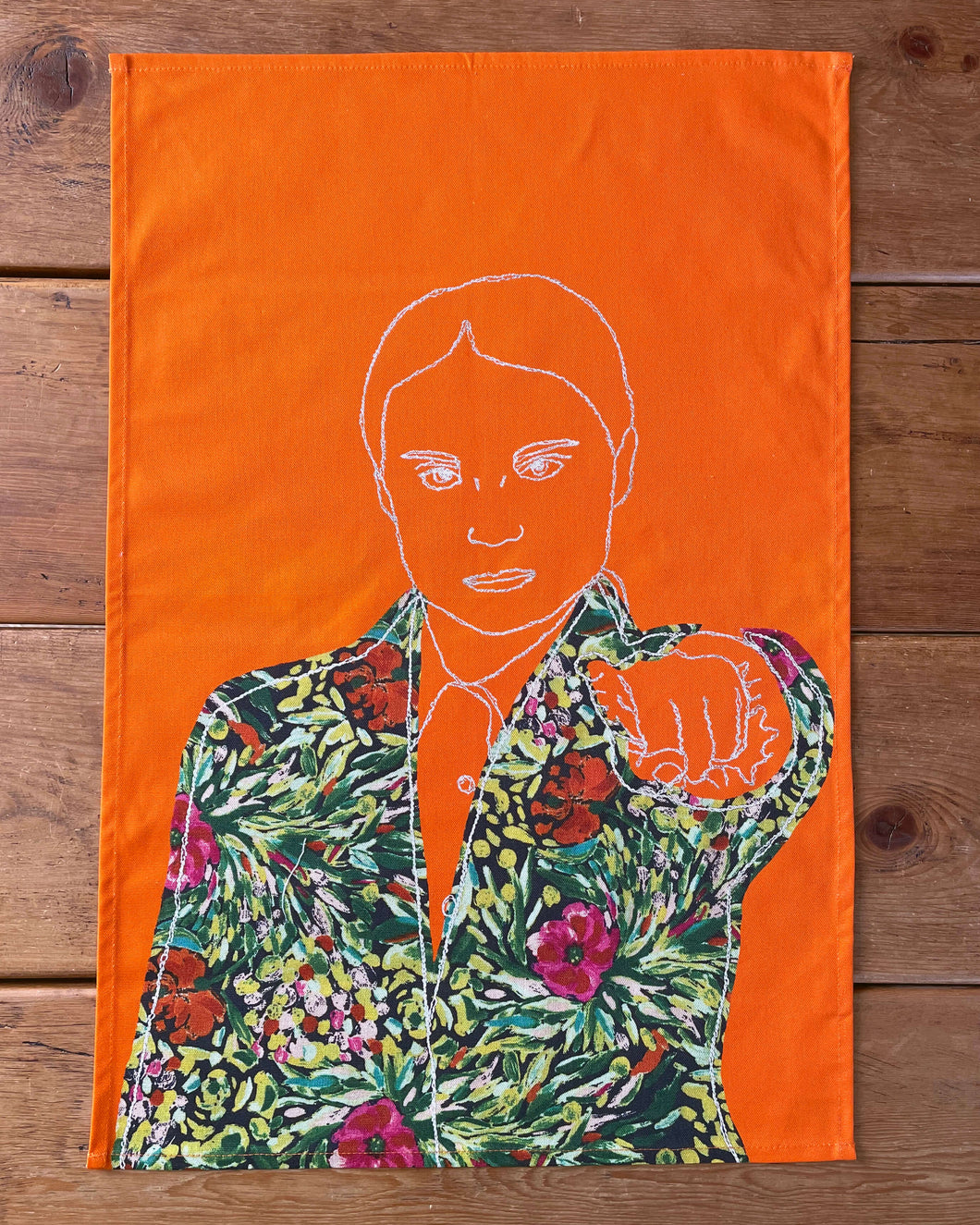 'GRETA' ORANGE TEA TOWEL