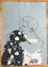 Load image into Gallery viewer, 'HUGGING' ORIGINAL TEXTILE ARTWORK