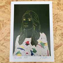 Load image into Gallery viewer, JACINDA ARDERN PRINT - DARK GREEN