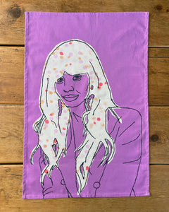 'JAMEELA' PURPLE TEA TOWEL