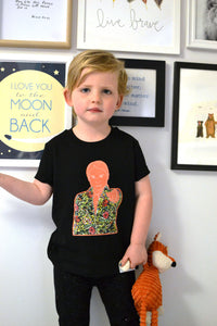 GRETA THUNBERG MINI KIDS TEE IN BLACK