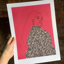 Load image into Gallery viewer, LIZZO PRINT - BRIGHT PINK