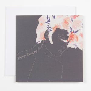 GORGEOUS BIRTHDAY CARD - DARK GREY