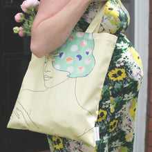Load image into Gallery viewer, 'DELIGHTFUL' YELLOW TOTE BAG  ***LAST ONE***