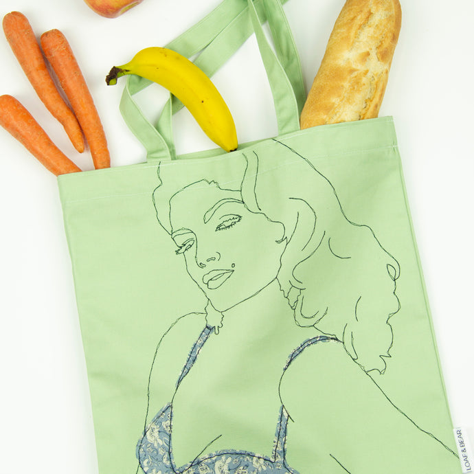 'SULTRY' GREEN TOTE BAG ***LAST ONE***