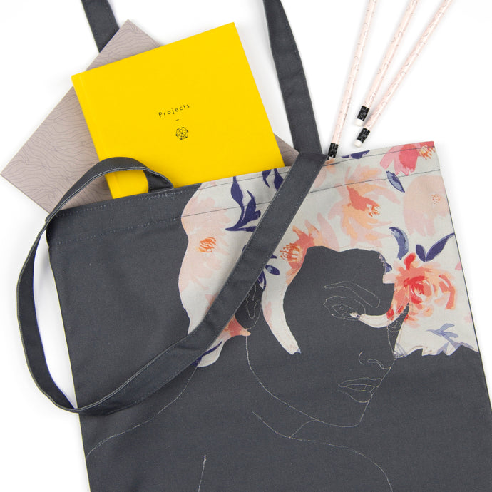 'DARING' DARK GREY TOTE BAG