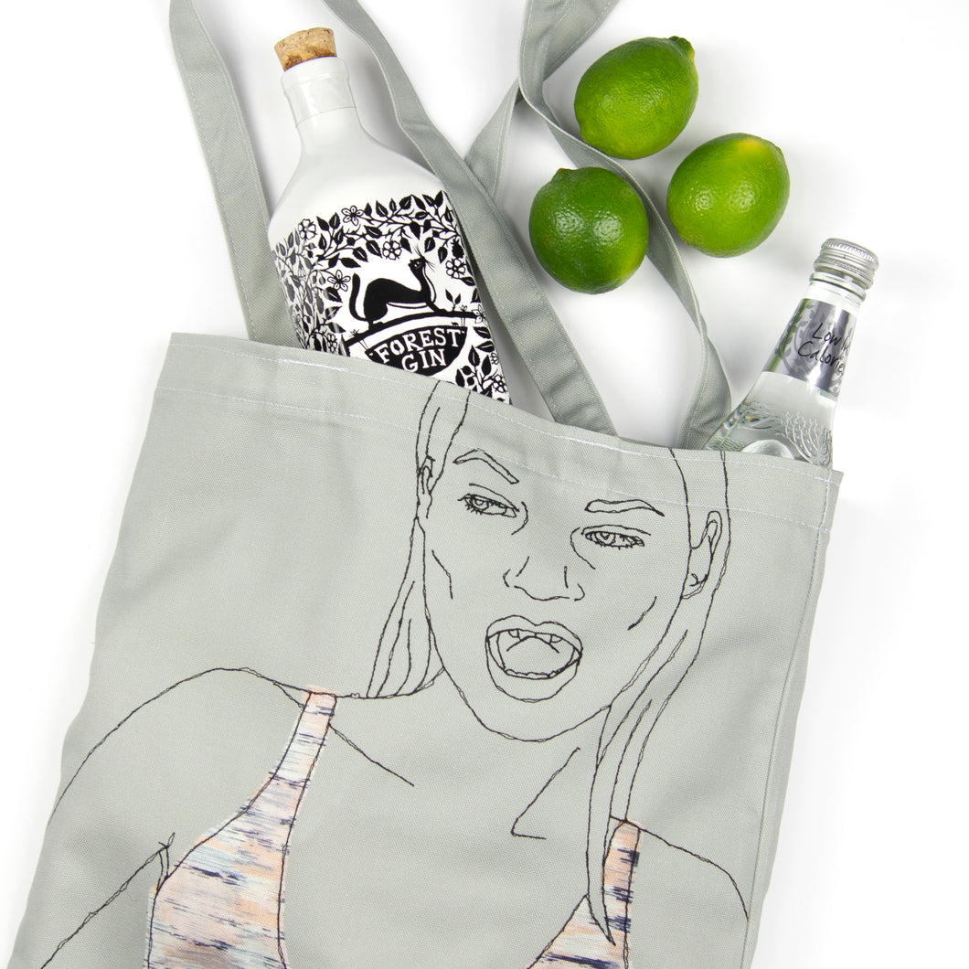 'WILD' GREY TOTE BAG