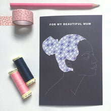 Load image into Gallery viewer, BEAUTIFUL MUM CARD - NAVY
