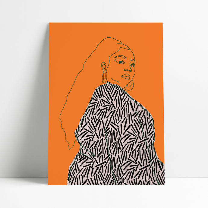 LIZZO PRINT - BRIGHT ORANGE