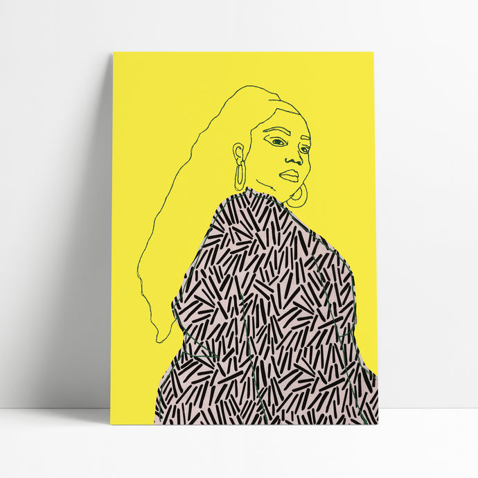 LIZZO PRINT - BRIGHT YELLOW