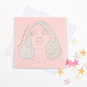 GORGEOUS BIRTHDAY CARD - PINK