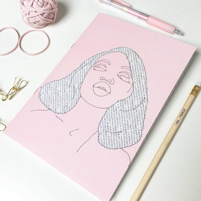 'FIERCE' PINK NOTEBOOK