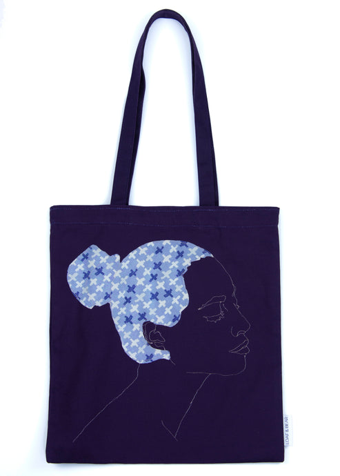 'GORGEOUS' NAVY TOTE BAG