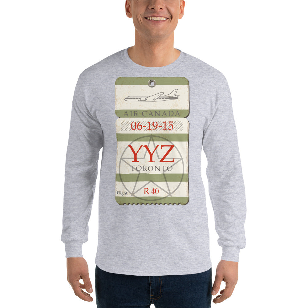 YYZ Airport Tag - Long Sleeve T-Shirt