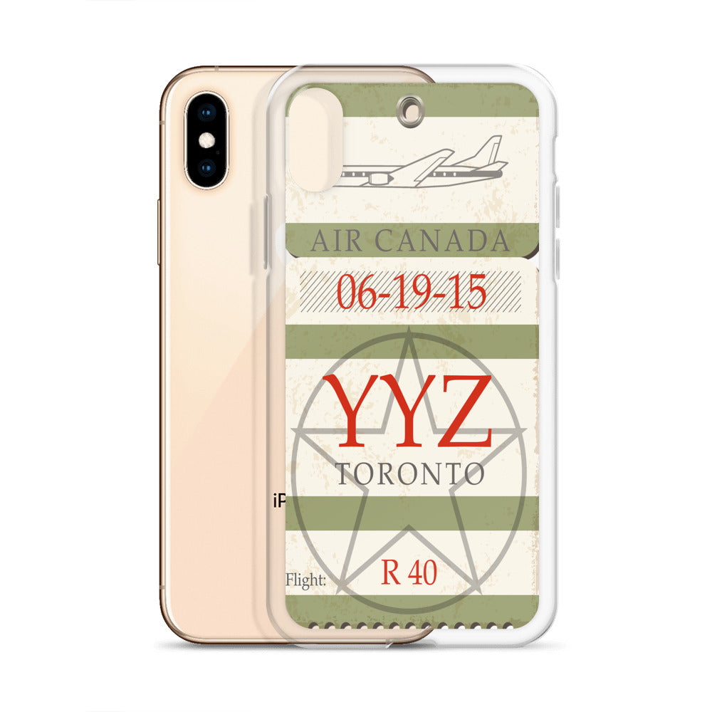 YYZ Airport Tag iPhone Case