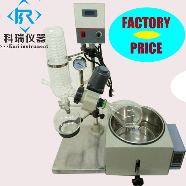 Vacuum distillation equipment hemp oil extraction  Re201D rotovap rotary evaporator with stainless steel water oil bath