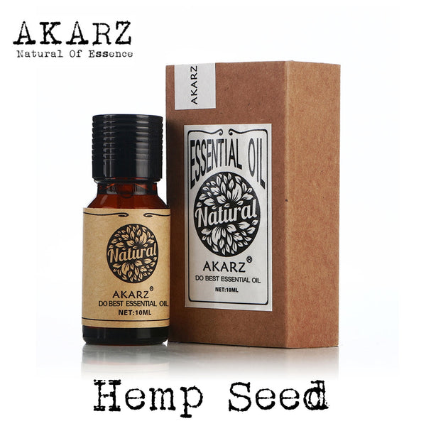 AKARZ Famous brand free shipping natural aromatherapy Hemp seed oil Soap materials base carrier Hemp seed essential oil