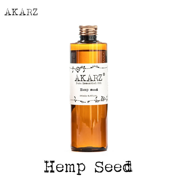 AKARZ Famous brand Hemp seed oil natural aromatherapy high-capacity skin body care massage spa Hemp seed essential oil
