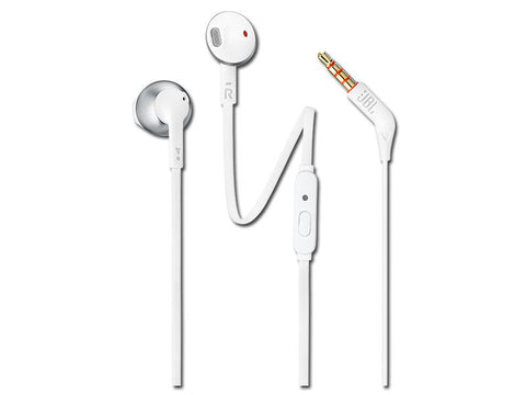 JBL Tune 205 Earbud Earphone - Chrome
