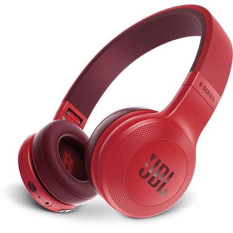 JBL E45BT Wireless On-Ear Headphones - Red