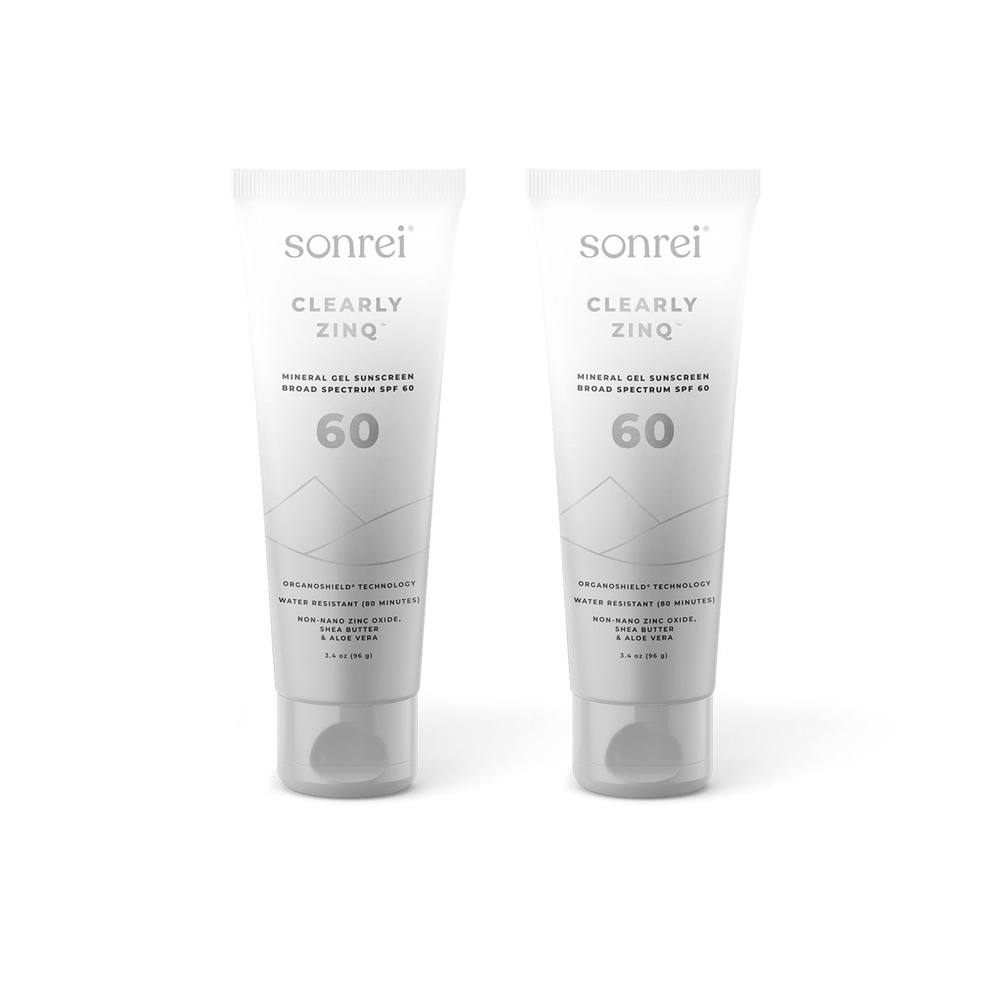 Sonrei Clearly Zinq SPF 60 (2-Pack Bundle) is a premium mineral sunscreen that rubs in clear and feels great on your skin.