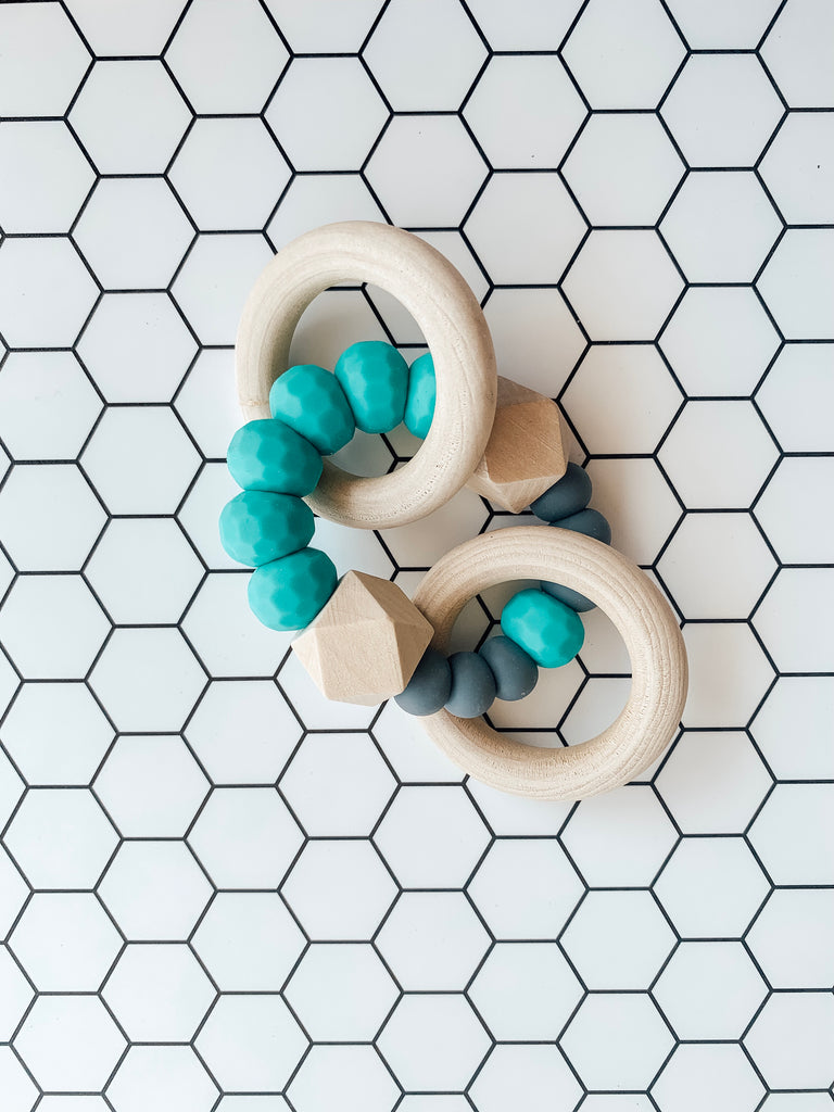 All Natural Teether- Turquoise