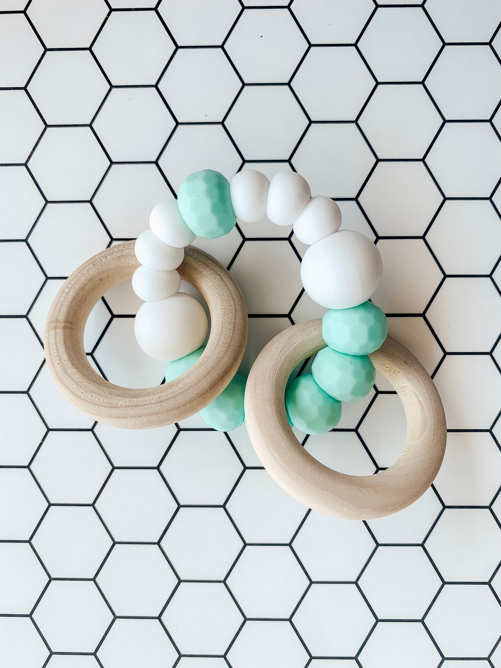 All Natural Teether-Mint/White