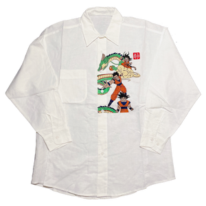db embroidered linen shirt