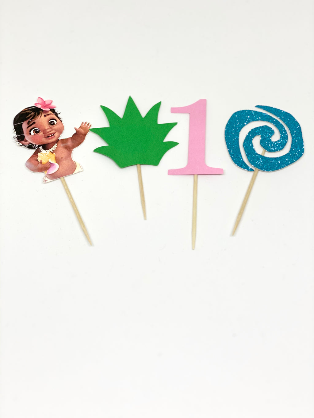 Baby Moana Cupcake Toppers