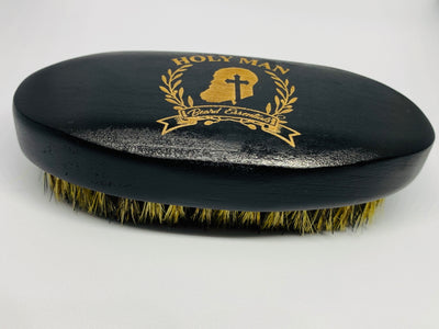 HOLY MAN BEARD BOARS HAIR BEARD BRUSH - Holy Man Beard Essentials beard, beard brush, beard care, beard tools facial hair, beard care, beard oil, beard products, skin care