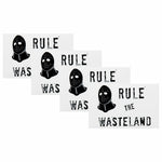 Rule The Wasteland logo sticker 4 Pack
