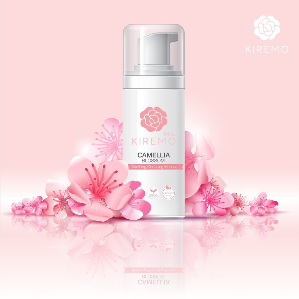 Kiremo Camellia Blossom Soothing Cleansing Mousse