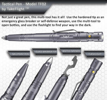 Load image into Gallery viewer, Tactical Pen for Self-Defense with LED Tactical Flashlight + Bottle Opener + Window Breaker
