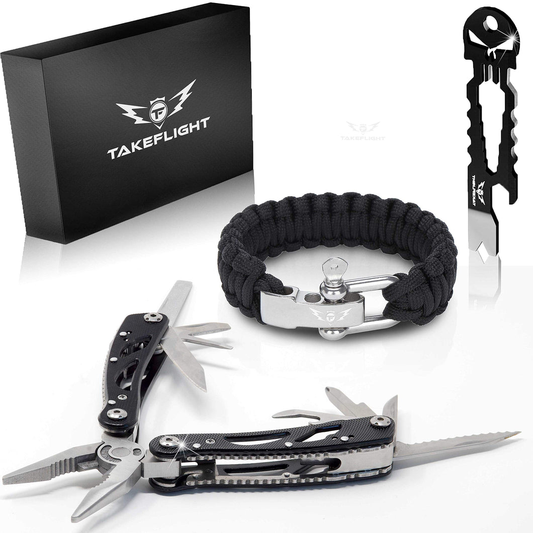 Deluxe Multi Tool Survival Gear Kit