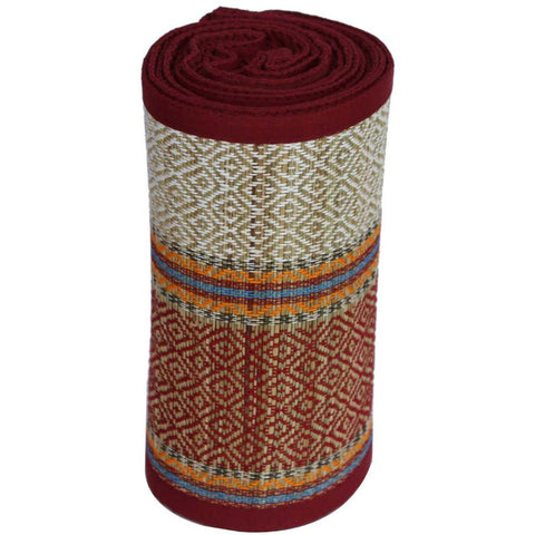 BNZ WOVEN STRAW YOGA BEACH MAT FOR INDOORS AND OUTDOORS, MULTICOLOR