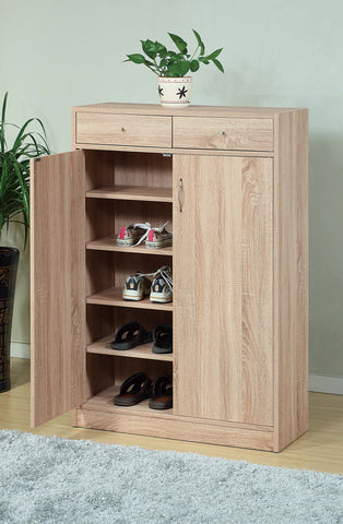 styleING SHOE CABINET WITH ADJUSTABLE SHELVES, BROWN